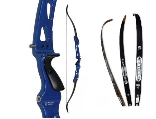 ILF Recurvebogen Jackalope Zircon Sportbogen Blau mit Core Prelude Wurfarmen