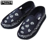 Navy Bandana Slippers House Shoes Trooper America Chicano Rap Blue
