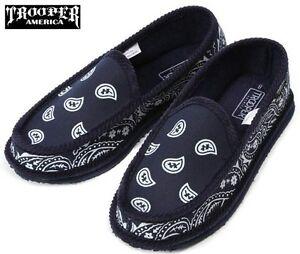 Navy Blue Bandana House Shoes