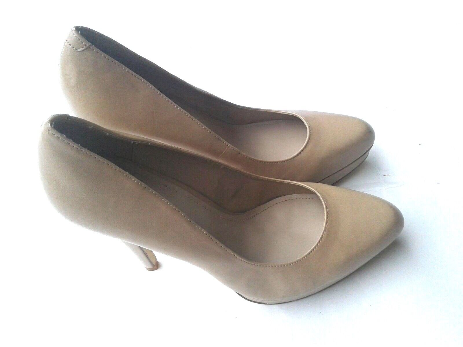 ALDO Tan Size 10 40 High Heel Pump shoes NWOB