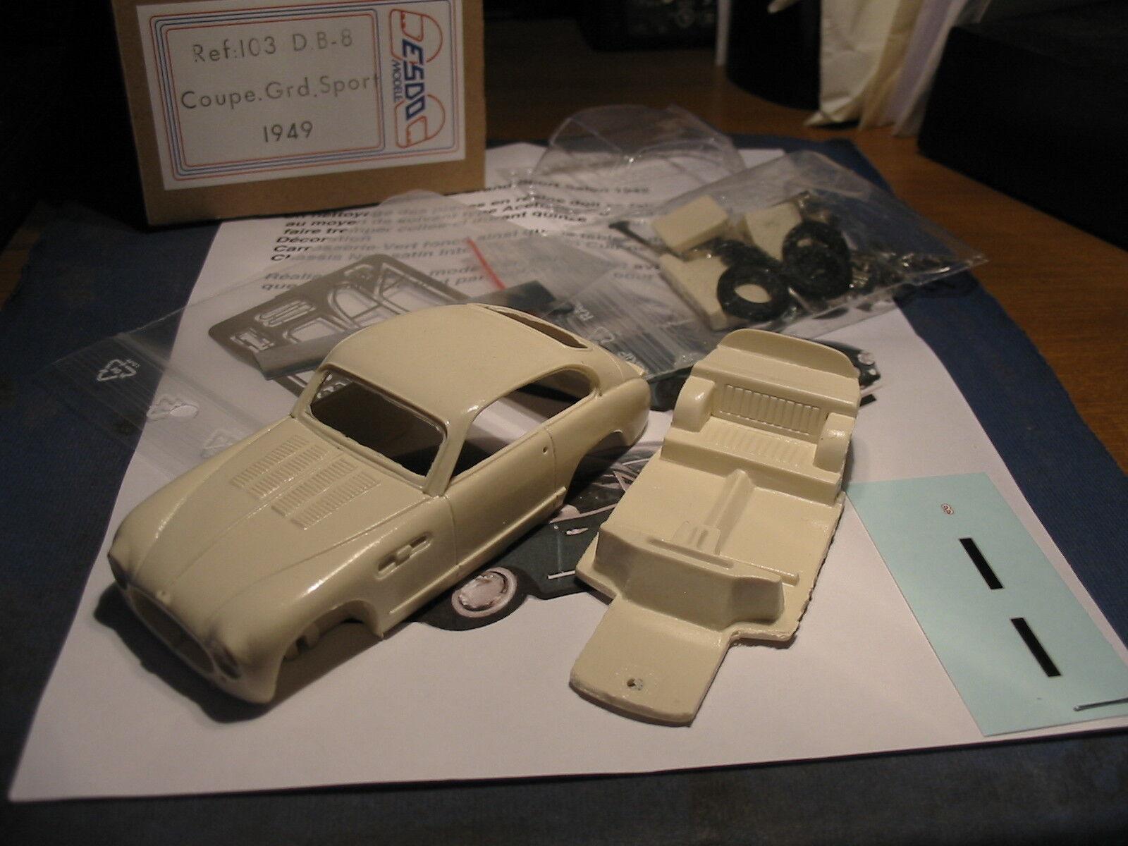 kit DB8 Grand Sport Coupé 1949  - Esdo Models kit 1 43  no.1 en ligne