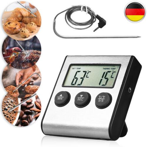 Fleisch Braten Thermometer 0°C Bis 250°C Hitzefestes Sensorkabel Timer 99min