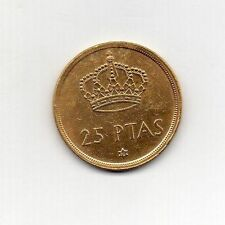 Chapado en Oro 24k de España 25 pesetas 1975 (78)