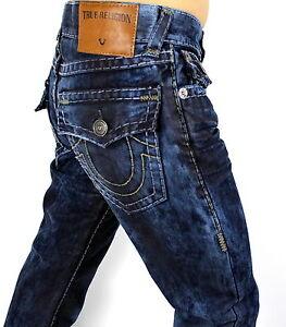 9fe777597 True Religion Men s Ricky Straight Cloud Cover Super T Jeans ...