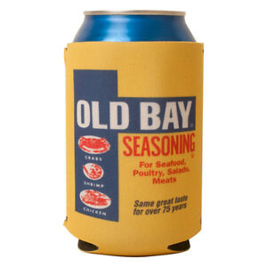 Old-Bay-Can-Koozie-Can-Seasoning-Crab-Seafood-Gift-Drink-Can-Cooler