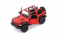 2018 Jeep Wrangler Rubicon Convertible Red Open Top Model Toy Car 134 Scale 5