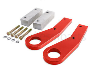 jeep grand cherokee wk2 tow hooks recovery point years 11 17 red powder coat ebay. Black Bedroom Furniture Sets. Home Design Ideas