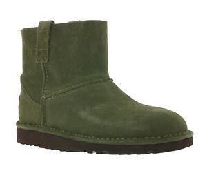 UGG-Australia-echt-Leder-boots-colabrodo-Low-Donna-Stivali-Verde