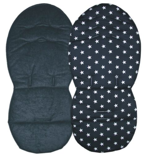Reversible Seat Liners for Silver Cross Wayfarer Surf /& Pioneer Black Designs