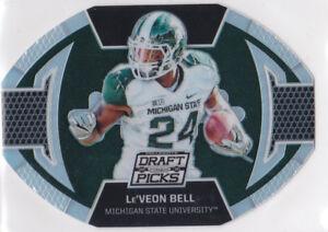 Le Veon Bell Michigan State Spartans College Football Draft Picks Prizm Card Le Ebay
