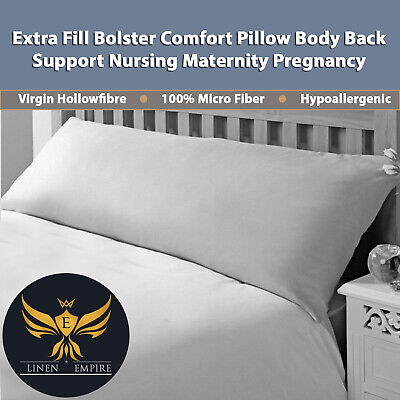 """Extra Long Bolster Pillow Pillows For Extra Support Maternity Pregnancy 4ft6-54/"""""""