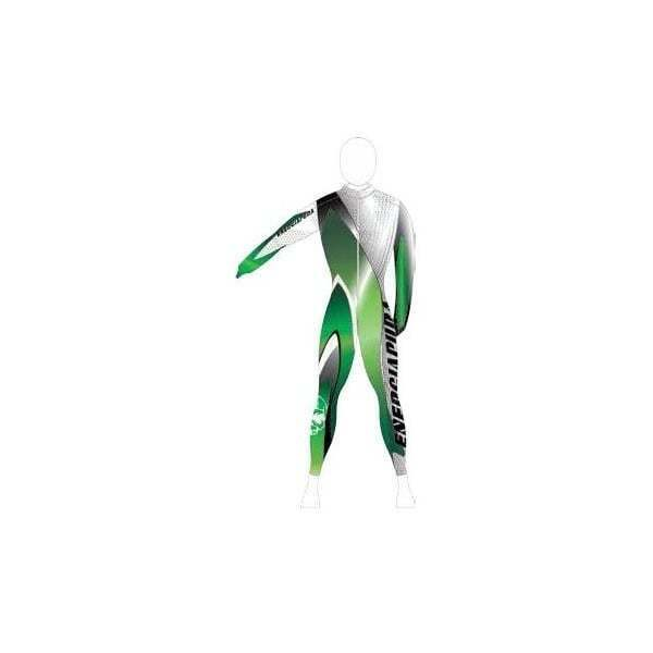 Unpadded Ski Race Catsuit Race Line Green Thermic