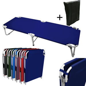 Portable-24-5-034-W-Military-Cots-Fold-Up-Bed-Hiking-Travel-Camping-Navy-Free-Bag