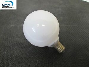 7x-BOUTIQUE-DECORATOR-40W-WHITE-GLOBE-BULB-LIGHT-LAMP-130V-2000HRS-2-034-ROUND-NEW