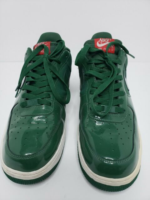 2010 Nike Air Force One Af1 315122 301 Kermit Frog Green Patent Leather Size 11