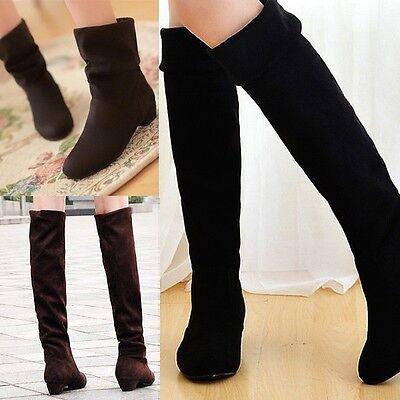 Schuhe Damenschuhe Stiefel Stiefeletten Overkneestiefel Winter Boots