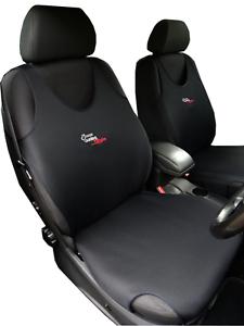 2 BLACK FRONT VEST CAR SEAT COVERS PROTECTORS FOR SUZUKI GRAND VITARA