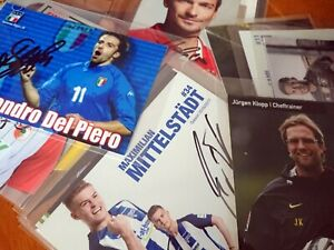 soccer / fussball autograph cards