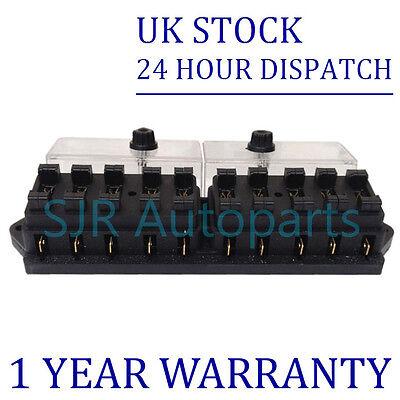 Neu 6 Wege Universelle Standard 12V 12 Volt Atc Flachsicherung Box Abdeckung