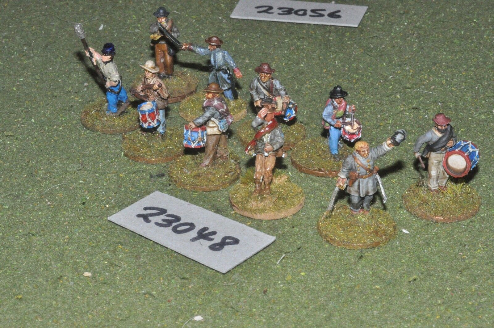 25mm ACW   confederate - markers 10 figures - inf (23048)