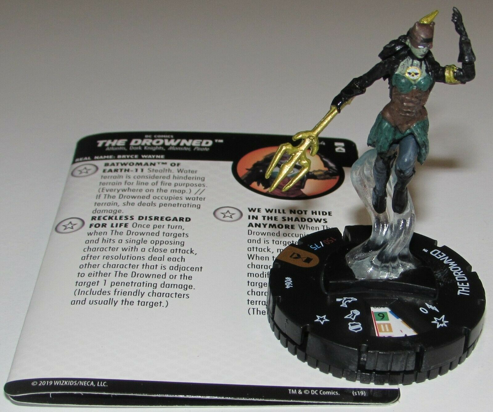 The Drowned 064 Dc Universe Rebirth Heroclix Chase Rare