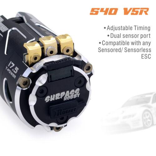 Surpass V5R ROCKET sans balai sensored Motor 17.5 T Stock SPV5R175 RC Race UK