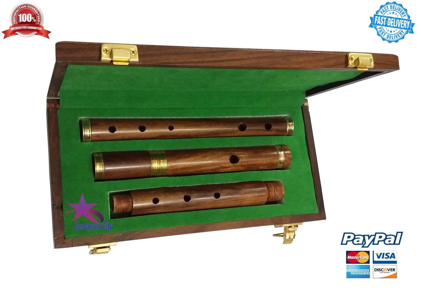 Professionell Irische D Flute Palisanderholz Natürlichem Finish mit Holz