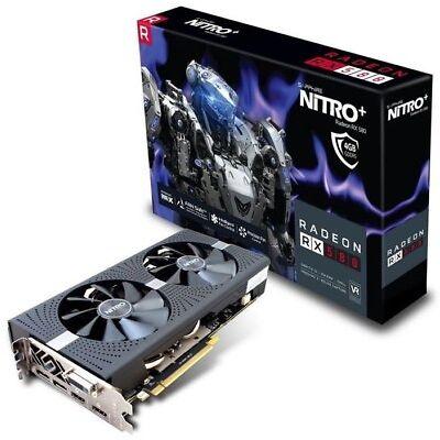 Sapphire Radeon RX 580 NITRO+  4 GB OC  High End PCIe Grafikkarte (Grafikkarte)
