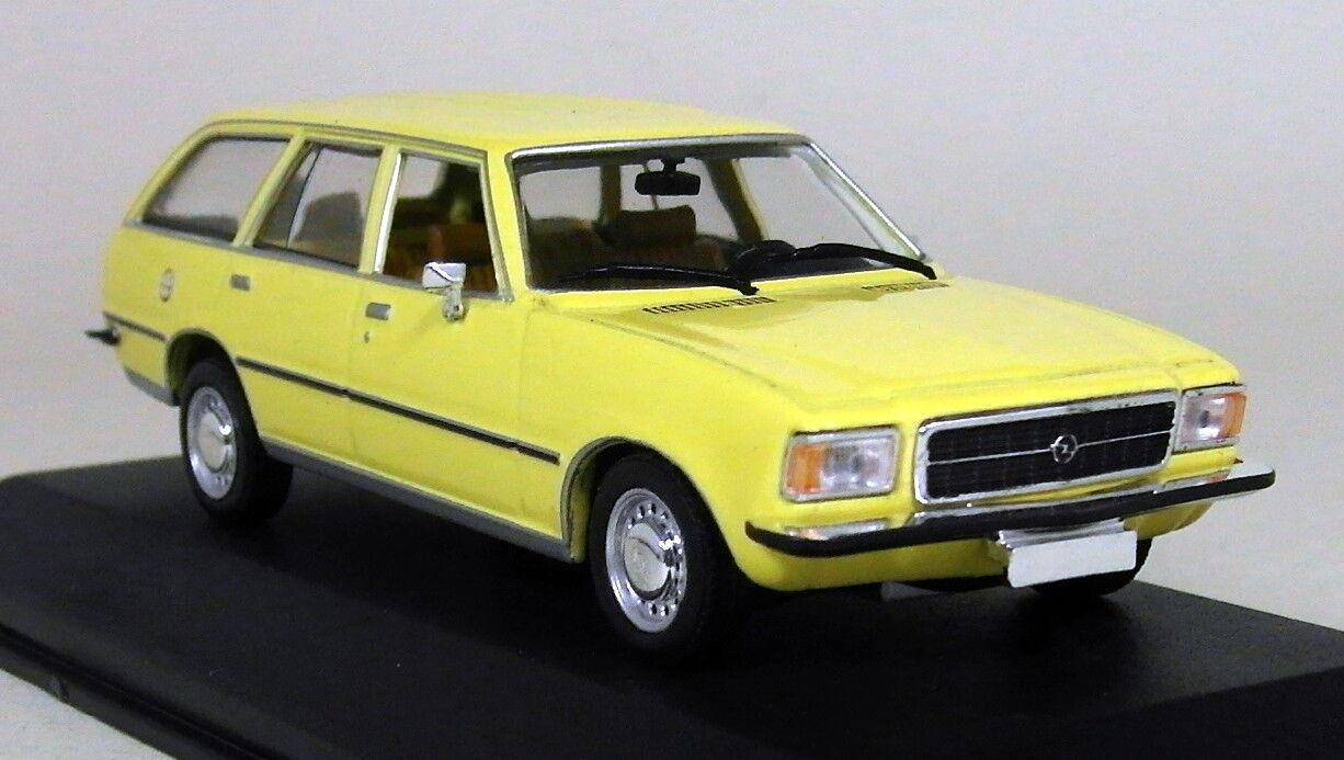 Minichamps 1 43 Scale 400 044010 Opel Rekord Caravan 75 Yellow Diecast model Car