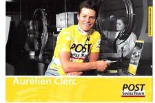 CYCLISME carte  cycliste AURELIEN CLERC équipe POST SWISS TEAM