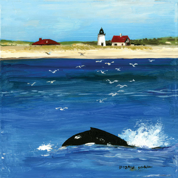 Gregory Gorham  Summer Whale Keilrahmen-Bild Leinwand Meer Wal Küste maritim