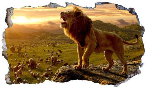 Lion King 2019 3D Magic Window Wall Art Sticker Self Adhesive Vinyl Poster V4*