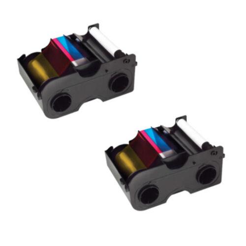 Genuine Fargo 45000 YMCKO Color Ribbons 2 Pack Bundle 2pack-45000 NEW