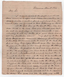 1842 Ravenna Ohio Lettre Document Alfred Robinson Montville Geauga Comté Oh B46ODPbX-09152904-674406524