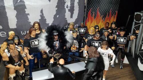 WWE Mattel Elite 4 Custom Original NWO Shirts for Wrestling Figure WCW NJPW ROH