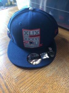 5f9fa3754 New England Patriots New Era Navy 5-Time Super Bowl Champions 9FIFTY ...