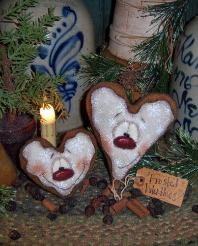 Primitive Patti's Ratties Valentine Gingerbread Heart Doll Paper Pattern #624