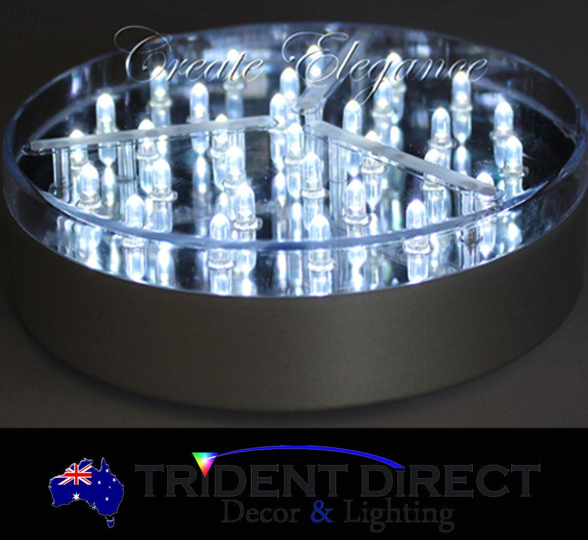 Bulk 12x Led Centrepiece Base Lights Silver 6 Ebay