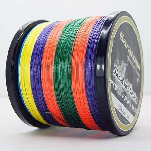 8 Strands 1000M Multi-Color Superb Dyneema Saratoga Braided Fishing Line Pro