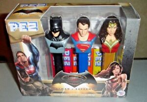 Pez-Dispenser-Batman-vs-Superman-Wonder-Woman-Dawn-of-Justice-2016-Collector-NIB
