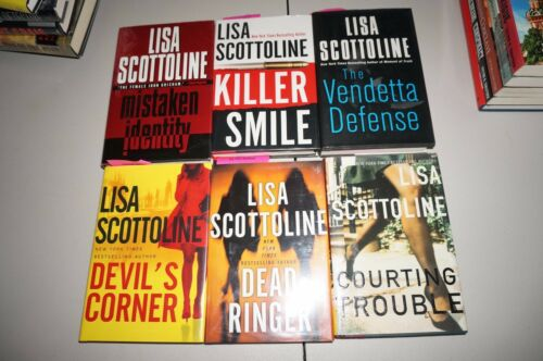AUTOGRAPH NOVEL BOOK LOT 6 LISA SCOTTOLINE MYSTERIES DEAD RINGER ROUGH JUSTICE