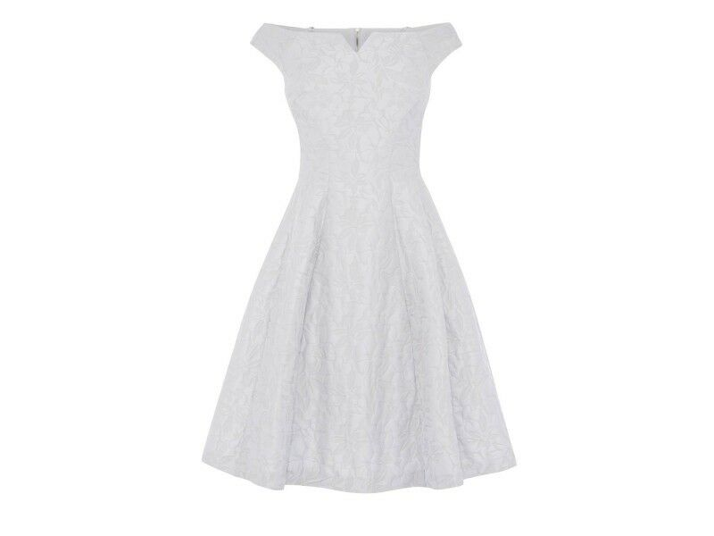 Coast Kimberley Jacquard Dress Grey Size LF180 BB 06