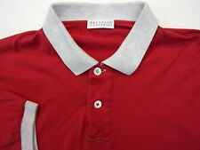 Brunello Cucinelli Men's Medium US 48 EU Polo Shirt Italy Designer Casual RED