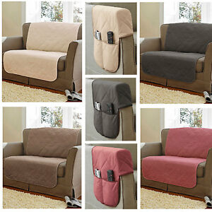 Image Is Loading Cotton Quilted Sofa Protectors Fr Compliant 100