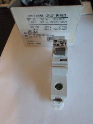 NEW CUTLER HAMMER B20 20 AMP SPCL1B20 SINGLE POLE MCB CIRCUIT BREAKER