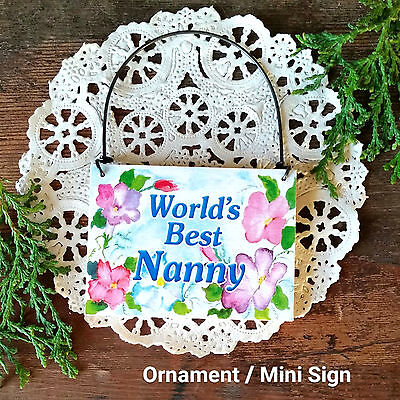DECO MINI SIGN GRAMMY You Are Loved New Wood Ornament Family Members Gift USA