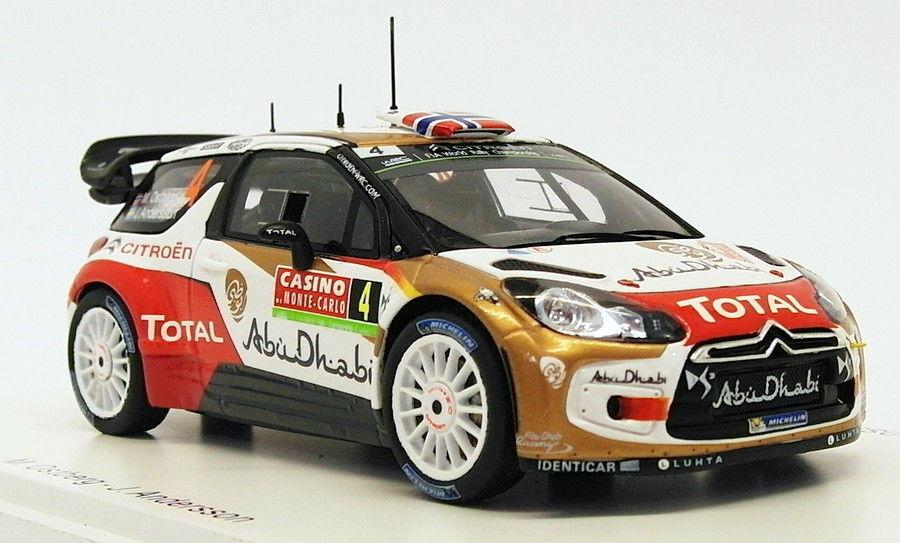 Spark 1 43 Scale S3789 - Citroen DS3 WRC  4 - 5th Monte Carlo 2014