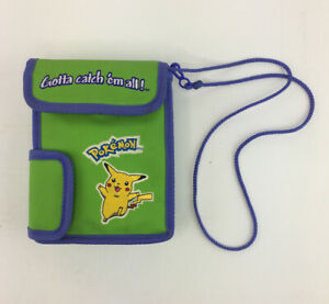 Nintendo-Pokemon-Lime-Green-Pikachu-Bag-Gameboy-Color-Nintendo-DS-Carrying-Case