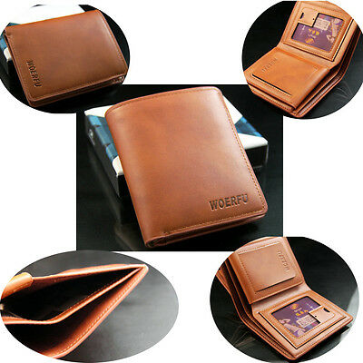 Men's Soft Leather Bifold Wallet Purse ID Credit Card Holder Billfold Money Clip