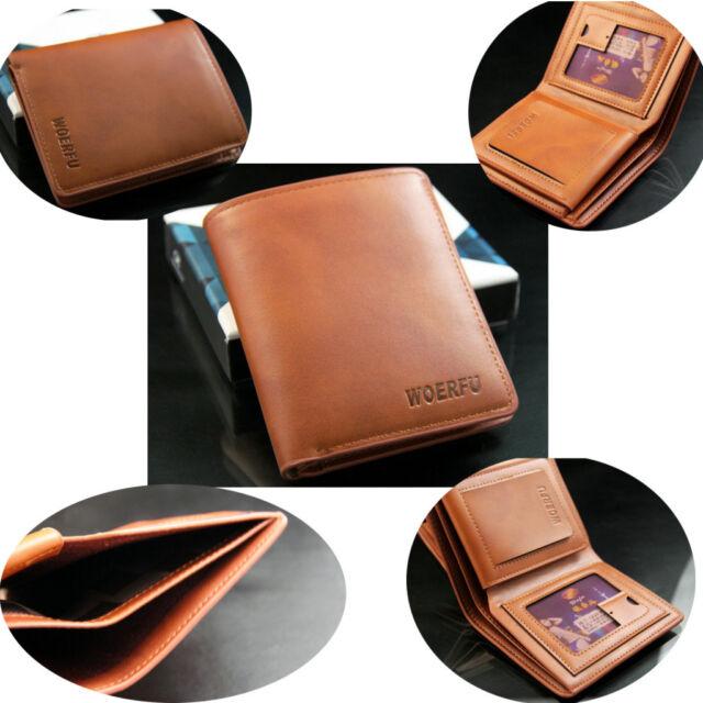 Men's Soft Leather Bifold Wallet Purse ID Credit Card Holder Billfold Money Clip